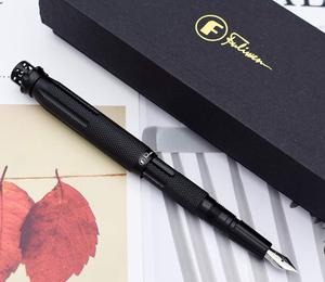 Image 2 - أسود Fuliwen 015 طاحونة معدنية الألومنيوم قلم حبر الدورية روبي القلم العلوي EF/F/M قلم حبر ، تأتي مع Fuliwen القلم حقيبة وصندوق