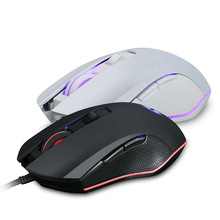 лучшая цена Ergonomic Optical Mice Professional Gaming Mouse For PC Laptop 6 Button RGB LED Backlit Computer Game Mouse For CS LOL Gamer