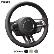 Car Auto Steering-Wheel Cover For Ford Mustang 2015 -2020 Mustang GT GT350R 2015- 2020 Funda Volante Volant 2016 2017 2018 2019