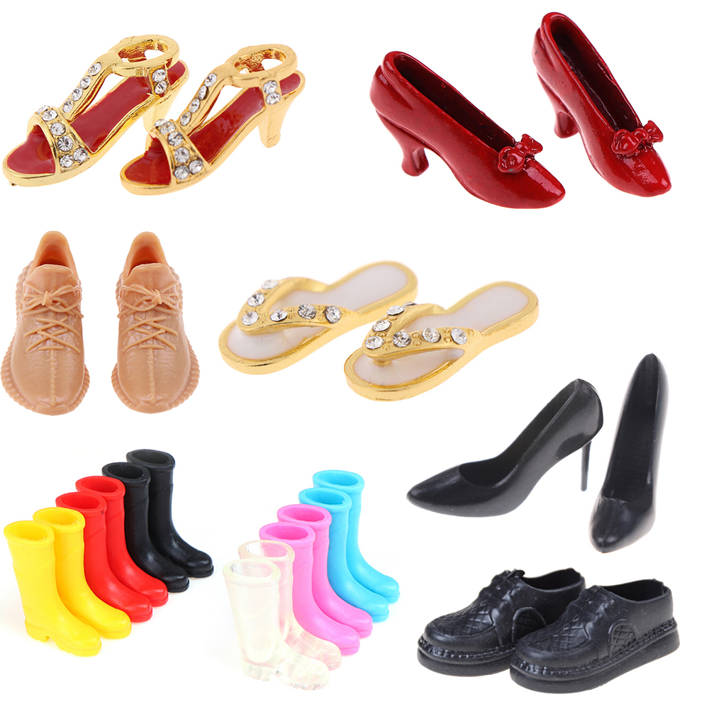 1Pair Cute Doll Shoes Mini Shoes Boot High Heels Sport Shoes For Blyth, Azone, Momoko, Baribes 1/6 Doll Shoes Accessories