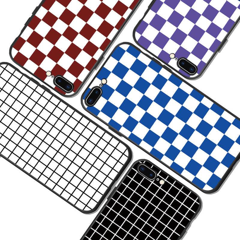 Para huawei caso capa de telefone xadrez pokrowiec huawei p30 pro etui y9 nova5i p inteligente z p20 litte mate mais 2018 2019 honra 8x10 y7