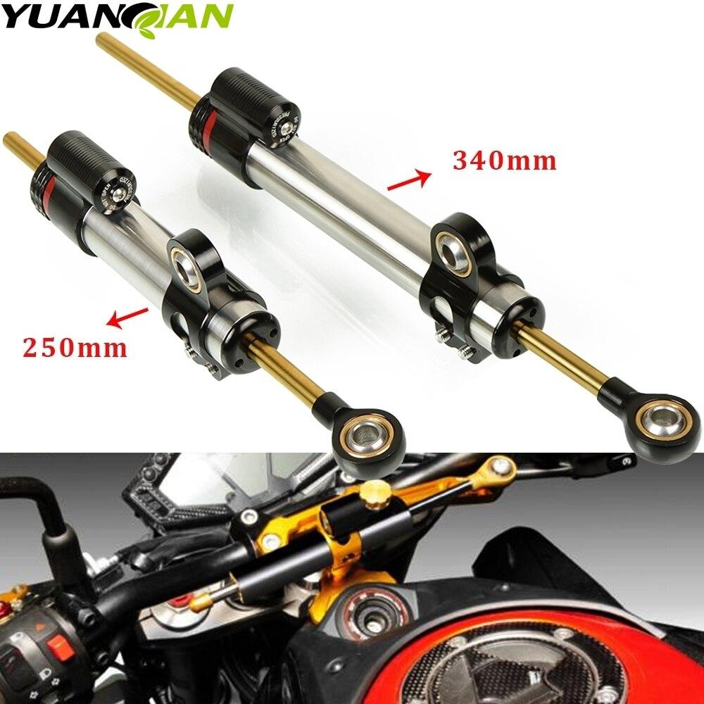 Universal Motorcycle Adjustable Steering Damper Stabilizer For KTM Duke 390 BMW F800GS Ducati Monster Kawasaki Versys 650 Z650