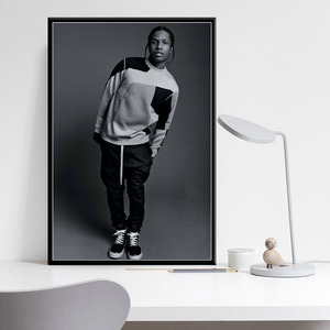 Asap Rocky Rap Music Hip Hop Rapper Posters And Prints Canvas Painting Wall Art Picture Vintage Poster Decorative Home Decor
