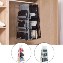 Handbag-Organizer Shoe-Bag Hanger Wardrobe Closet Door-Wall Clear Transparent 6-Pocket