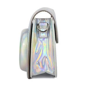 Image 5 - Fujifilm Instax Mini 9 Mini 8 sac étui pour appareil photo holographique brillant Laser instantané caméra bandoulière sac protecteur housse pochette