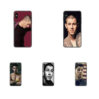 Soft Silicone TPU Black Phone Cases Cover For Galaxy S5 S6 S7 S8 S9 S10 S10e S20 edge Lite Plus Ultra Cool Man Nick Jonas image