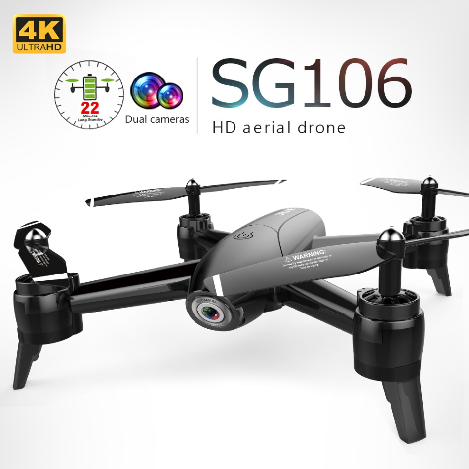 SG106 RC Drone WiFi FPV Optical Flow 1080P 4K HD Dual Camera Real Time Aerial Video RC Quadcopter Aircraft Positioning RTF Toys