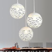 Modern LED Pendant Lights Iron Hollow Out Metal Ball Pendant Lamp E27 Bedroom Parlour Lighting Decoration Hanging Lamp Fixtures