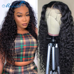 Water Wave Wig Lace Front Human Hair Wigs 4x4 Lace Closure Wig 130 150 180 Density Lace Frontal Wigs Waterwave Lace Front Wig