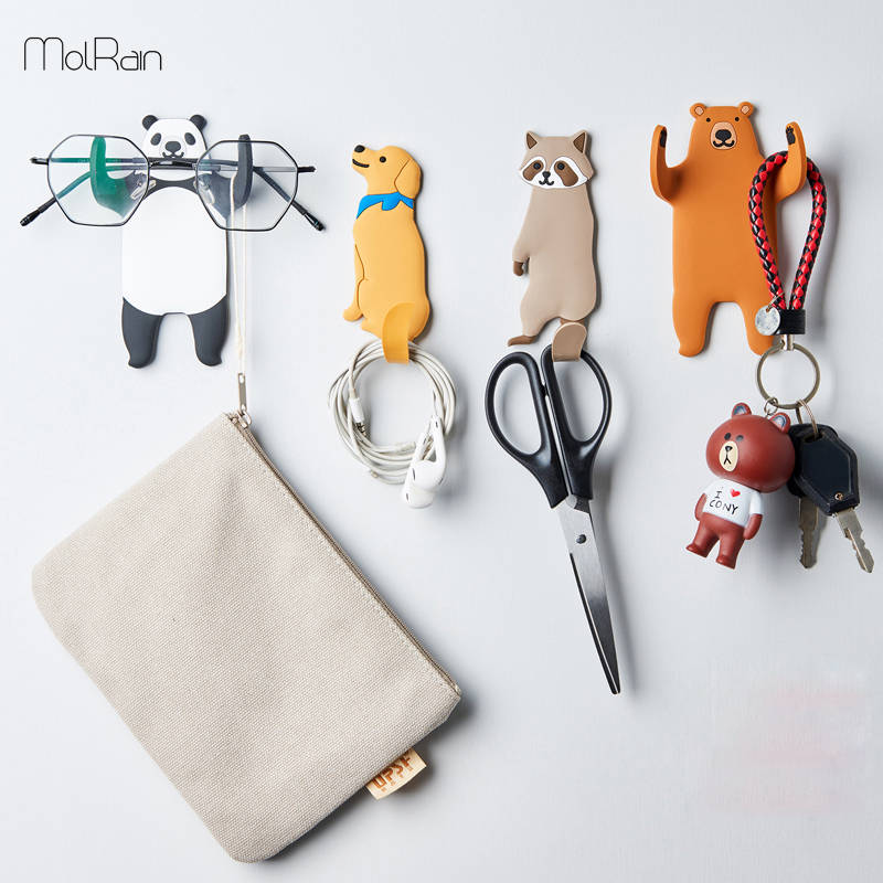 Multi-Purpose Hooks animal Fridge Hook Key Wall Crochet Holder Removable Kitchen Hooks Home Decor can Washed holder wall hook