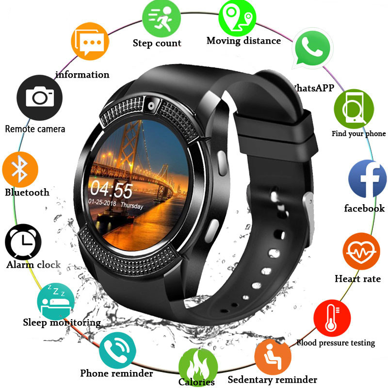 Sport Men Smart Watch Sim Card Android Camera Rounded Answer Call Dial Call Smartwatch Men Heart Rate Fitness Tracker PK X6 A1 1