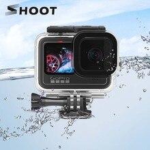 Ateş 60M su geçirmez kılıf için GoPro Hero 9 siyah koruyucu dalış sualtı konut kabuk kapak git Pro 9 kamera aksesuarı