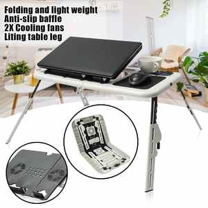 Laptop-Stand-Holder Table Cooling-Fans with 2-Usb Mouse-Pad for Bed Folding Multi-Function