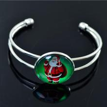 2019 New European and American Christmas Decorations New Christmas Gifts Time Gem Open Bracelet Jewelry Wholesale все цены
