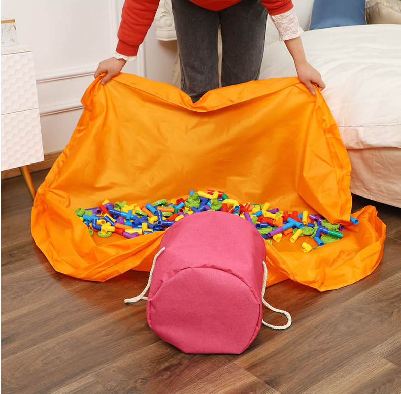 Play Toy Clean-up and Storage Bag - Portable Foldable