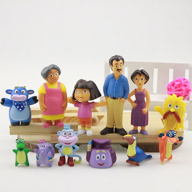 Set 12 pcs New Dora the Explorer PVC Toy Doll action figures Cake Toppers Gift