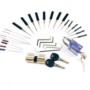 Image 5 - New!Hot! 2PCS Transparent Lock with 14pcs Broken Key Extractor Pick Set,2pcs Tension Wrench Tool Locksmith Kit