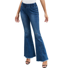 New Jeans Women's High Waist Loose Waist Knee-brea