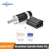 500W CNC Spindle ER11 Brushless DC Motor 55MM Clamp Bracket Switching Power Supply Stepper Motor Driver 13pcs ER11 Collet Chuck