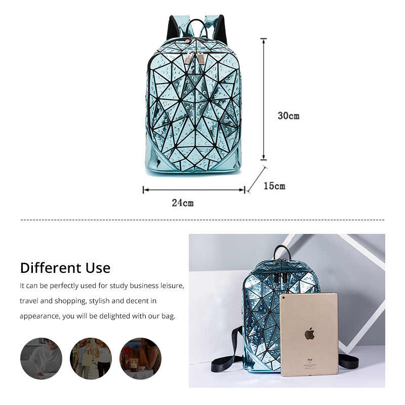 Женский рюкзак LOVEVOOK, школьный портфель большой емкости для девочек-подростков, складной геометрический рюкзак для путешествий,  изготовлены из пециальных материалов, 2019