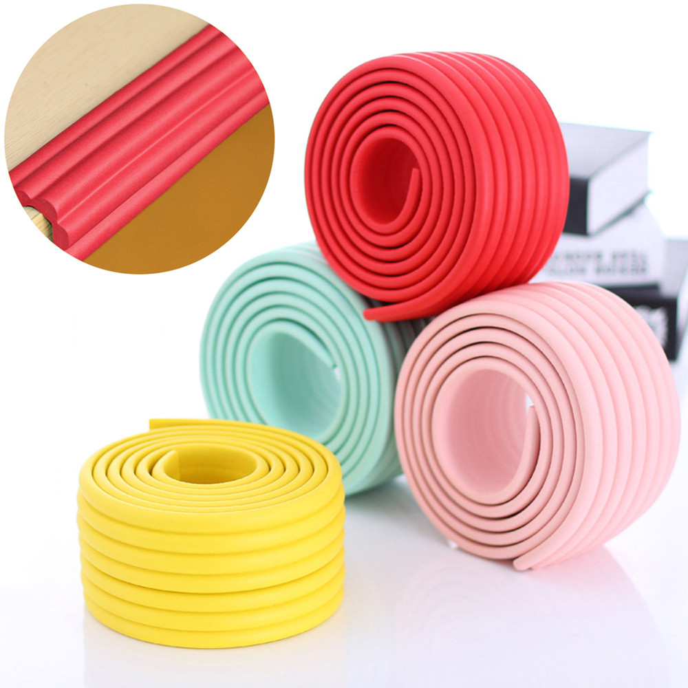 2M Baby Safety Child Protection Strip Table Desk Edge Guard Corner Protector Children Bar Thicken Bumper Strip With Sticky Tape