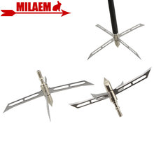 3/6/12pcs Archery Broadhead 4 Fixed Blade Hunting Tip 186Gr Arrowhead Stainless Steel Bow and Arrow Shooting Accessories