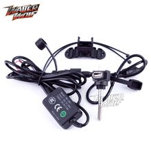 GPS Navigation Phone USB Charger Wire 12V-24V Adapter Motorcycle Accessories Waterproof Socket Motorbike Port Charging Outlet