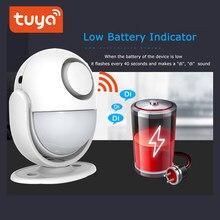 Détecteur de mouvement PIR, wi-fi, 100db, système d'alarme domestique, fonctionne avec l'application IFTTT Smart Life, avec batterie intégrée