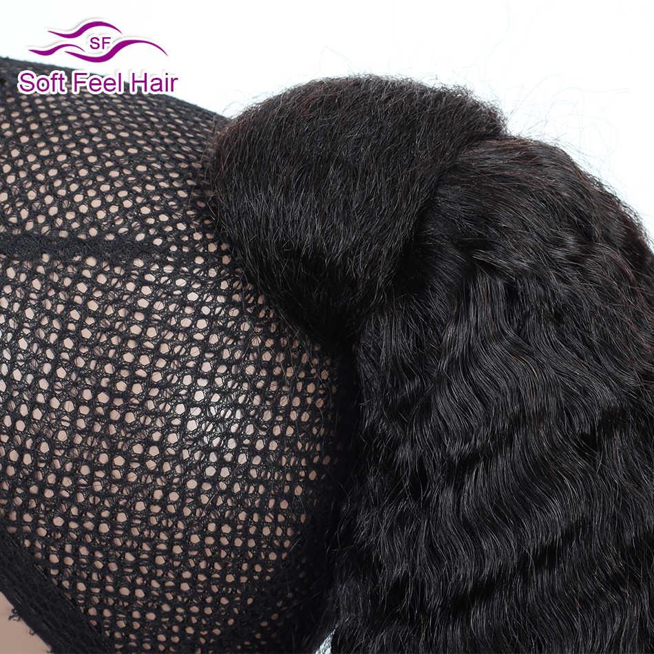 Extensiones de cola de caballo recto rizado y cierre de lazo extensiones de cola de caballo cabello humano Remy Cola de Caballo brasileña para mujer cabello suave