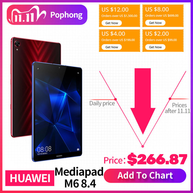 Original Huawei Mediapad M6 8,4 zoll tablet PC Kirin980 Octa core Android 9,0 6100mAh Huawei Gaming tablet pc Google spielen