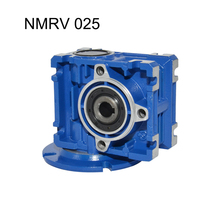 NMRV 025 Gearbox Reducer Ratio 7.5/10/15/20/30/40/50/60 56B14 High Quality Electric Motor Use for Automatic Doors