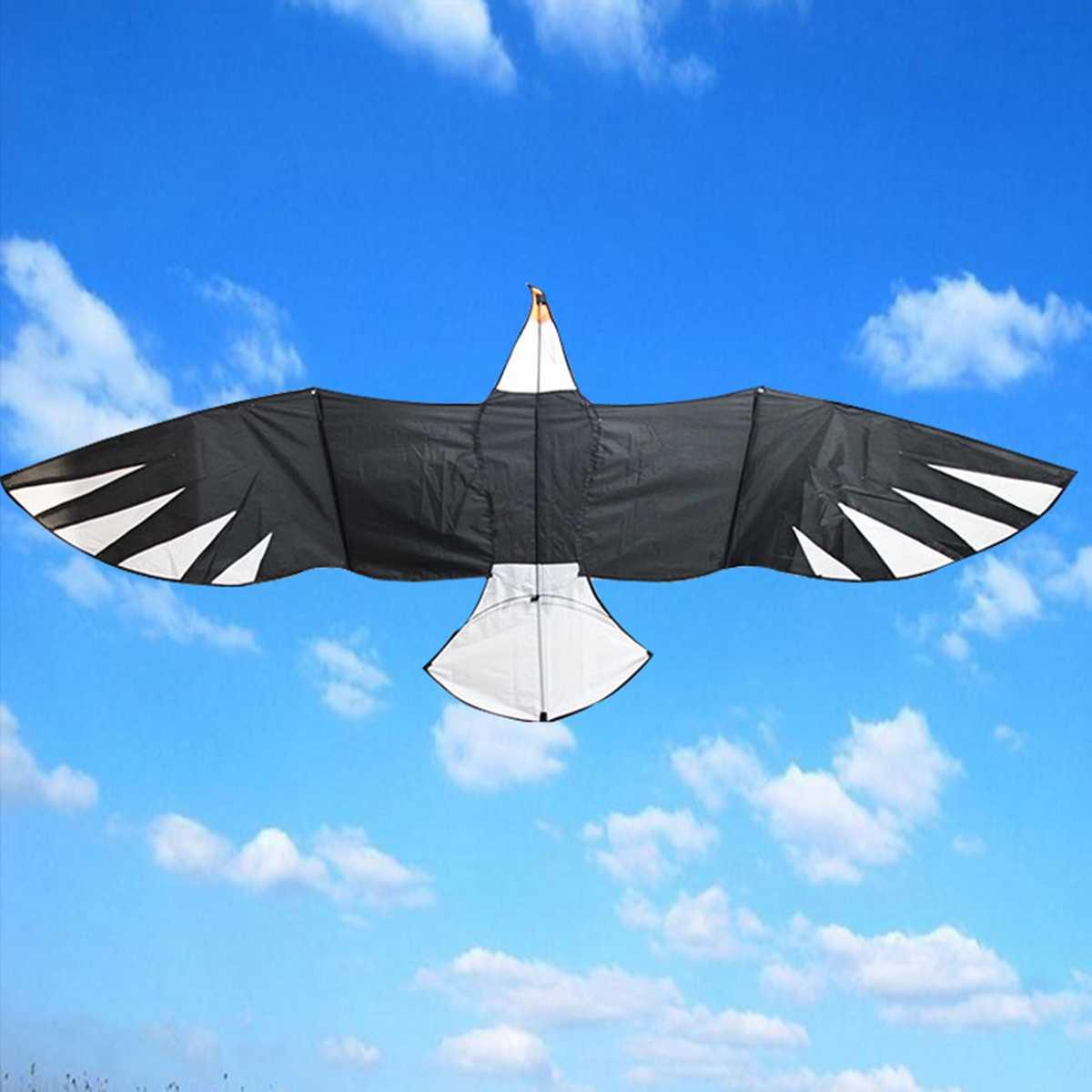 Chaude énorme 3D aigle oiseau cerf-volant aile volant ligne unique en plein air amusant Sport enfants tissu jouet grand oiseau cerfs-volants volant plus haut enfants