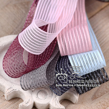 100yards 10 16 25 40mm mixed fishing-line strieps hollow out mesh ribbon for hair bow diy accessories bouquet packing
