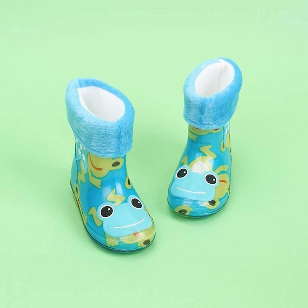 Peuter Infant Kids Baby Meisjes PVC Cartoon Dieren Regen Laarzen Schoenen Overschoenen Rubber Kids Baby kinderen Waterdichte Regen Laarzen C
