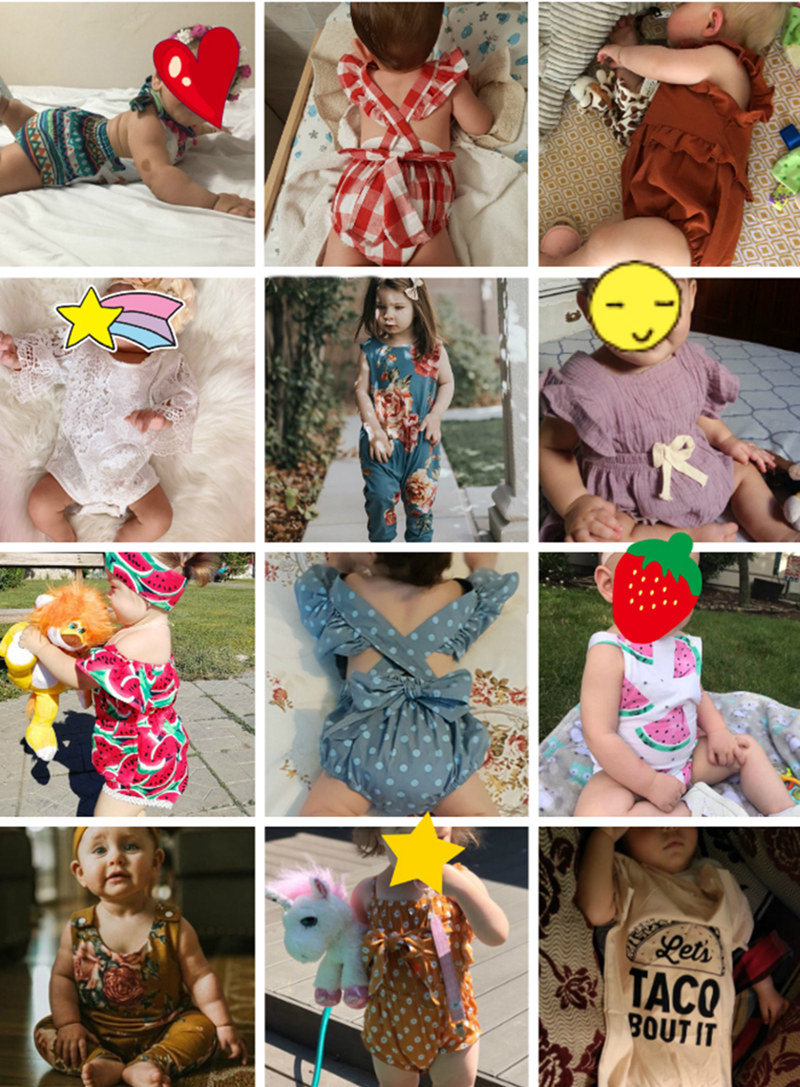H62f1389b948644a4ac9d86749b67e762r 13 Styles Romper For Baby Girls Clothes Cute Print Jumpsuit Clothes Ifant Toddler Newborn Outfits Hot Sale Baby Romper Playsuit