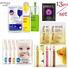 Bioaqua face masks Facial Skin Care Hyaluronic Acid Wrapped Mask plant Moisturizing Oil-control Whitening korean Black Face Mask