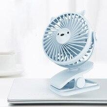 Portable Mini Handheld Small Fan USB Charging Student Cooling Desktop Fan 360 Degree Rotation Home Office Mute Stroller Clip Fan