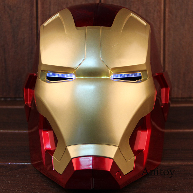 1:1 Iron Man Motorcycle Helmet Cosplay Mask For Adult Touch Sensing Mask With Led Light Super Hero Series Doll image