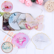 Gel Palette Nail-Display-Plate Painting Polish Butterfly-Shape Crystal Gem Mix Resin
