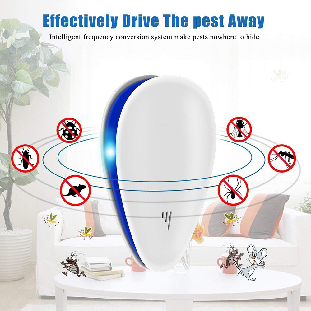 US UK EU Plug Ultrasonic Pest Repeller Mosquito Killer Plug In Electronic Repellent Anti Rodent Mice Cockroach Rat Spider Insect