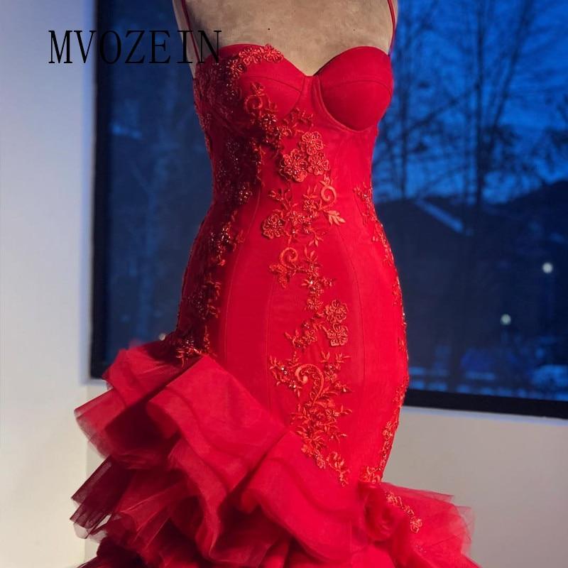 Sexy Mermaid Evening Dress Spaghetti Strap Long Evening Dresses 2019 Foral Gowns Prom Party Dress Vestido De Festa