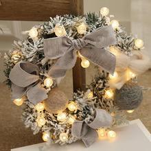 30 см настенный Рождественский венок освещение для рождества вечерние Гирлянда для двери орнамент домашний декор праздничные аксессуары