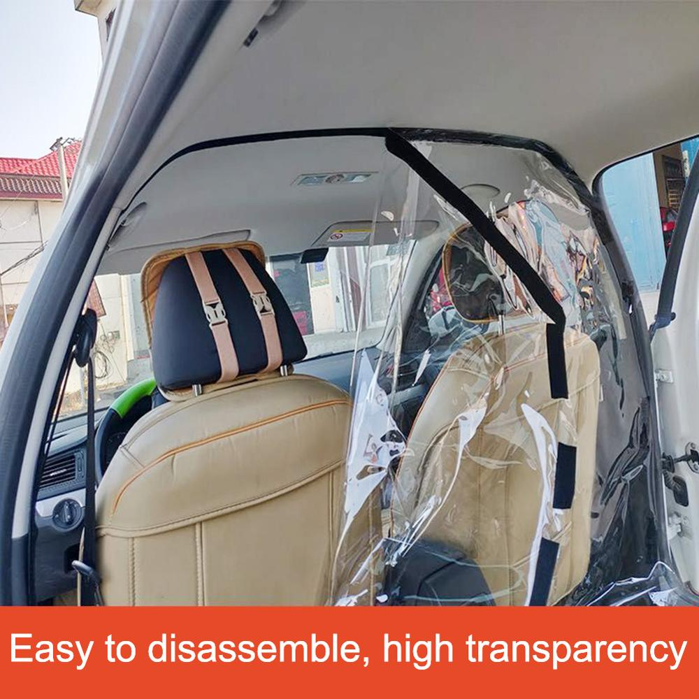 Taksi Mobil Isolasi Film Penuh Surround Cover Pelindung Terpisah Depan dan Belakang Baris isolat Bakteri Melindungi Pengemudi dan Tamu title=