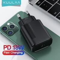 KUULAA PD Ladegerät USB C 18W PD 3,0 Schnelle Ladegerät Für iPad Pro 2020 USB Typ C Tablet Ladegerät für Samsung Huawei Xiaomi