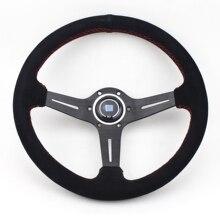 14inch 350mm Racing Suede TItanium Black Spoke  Universal Sport Steering Wheel