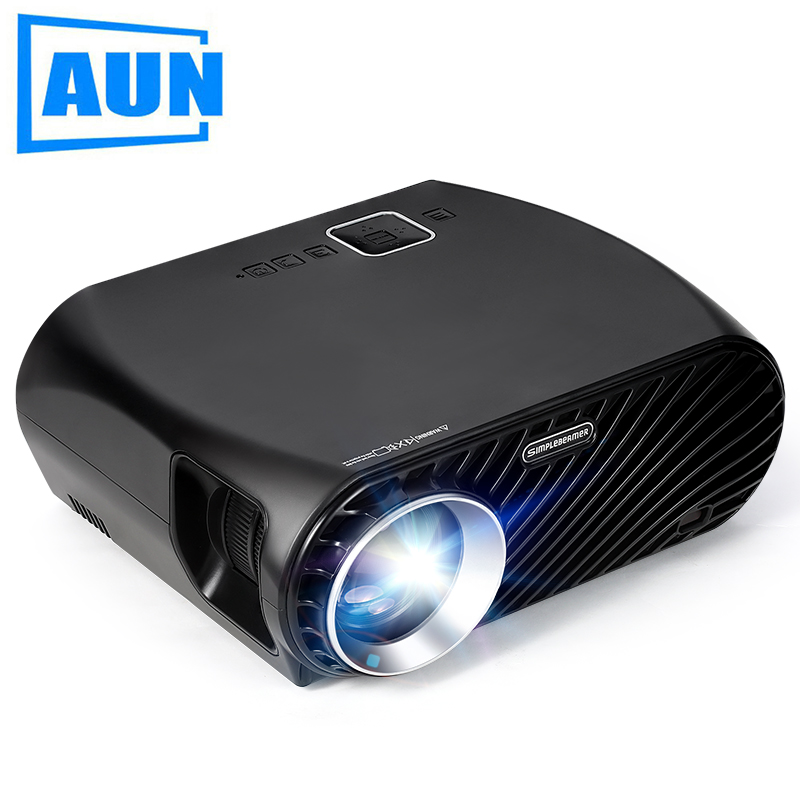 Proyector LED GP100, 1280*768 P, 3200 lúmenes, sistema Multimedia de cine en casa, HDMI VGA 3D PARA LA Beamer HD precio bajo