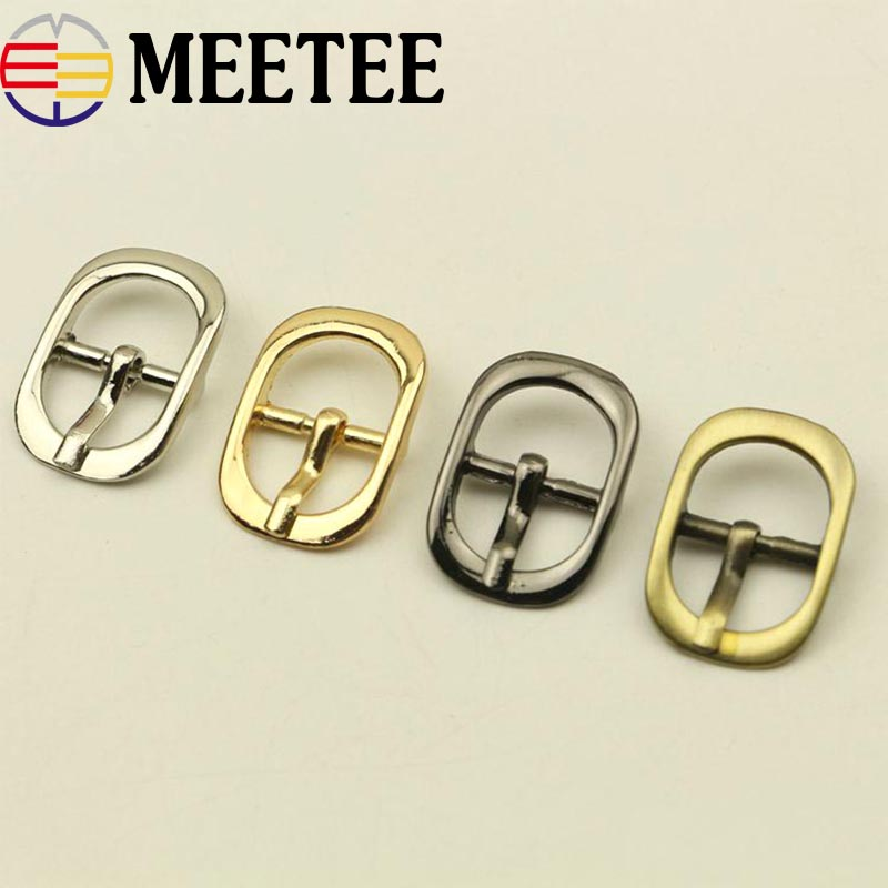 10/20pcs 15mm Men Women Metal Belt Buckles Bags Shoes Pin Buckle Handbag Strap Clasp DIY Leather Crafts Sewing Accessories