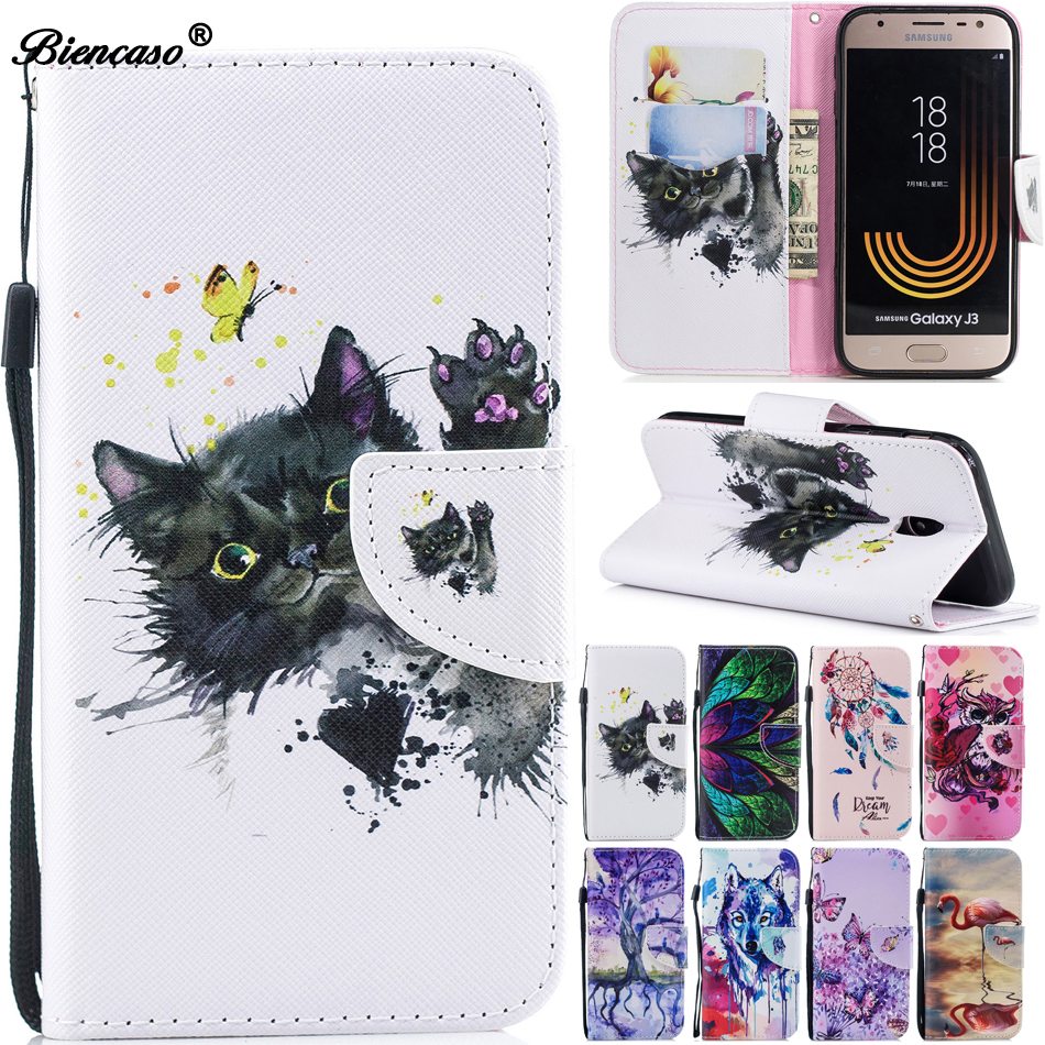 Flip Case For For <font><b>Samsung</b></font> <font><b>J3</b></font> 2016 J5 Pro J7 <font><b>2017</b></font> J330 J530 J730 M10 A10 A20 A30 A50 Note 10 PU Leather Wallet Stand Cover Coque image