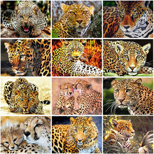 Diy 5d diamond painting leopards art embroidery full round/square