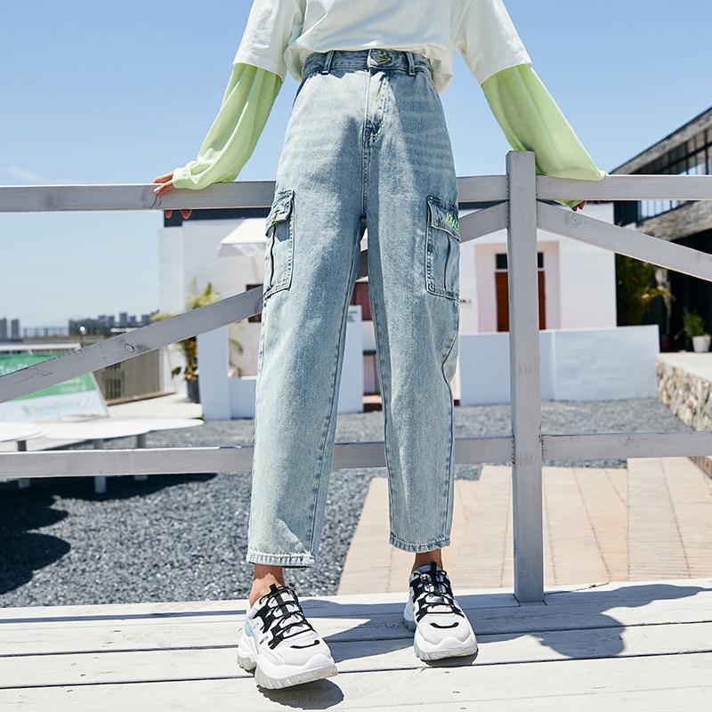 SEMIR Jeans women trend overalls ladies autumn new popular pants brand denim cropped pants Korean fashion